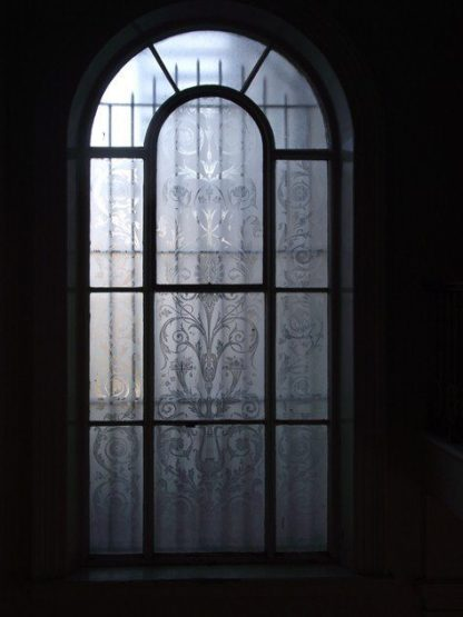 Beautiful Etched glass window