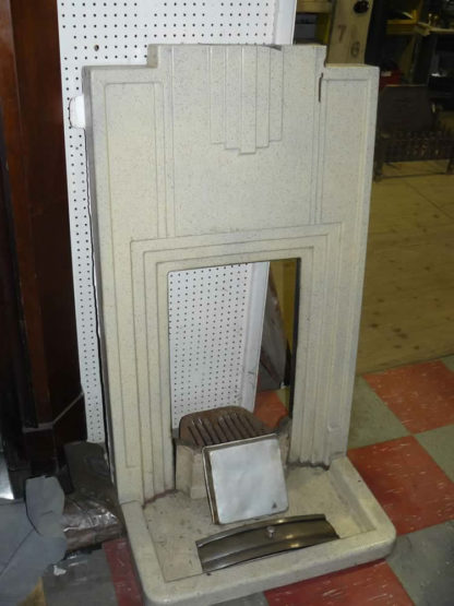 Original Retro Cast Iron Fire Place