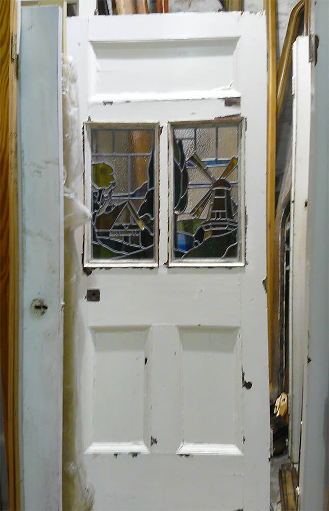 Victorian Entrance Doors with Stained Glass