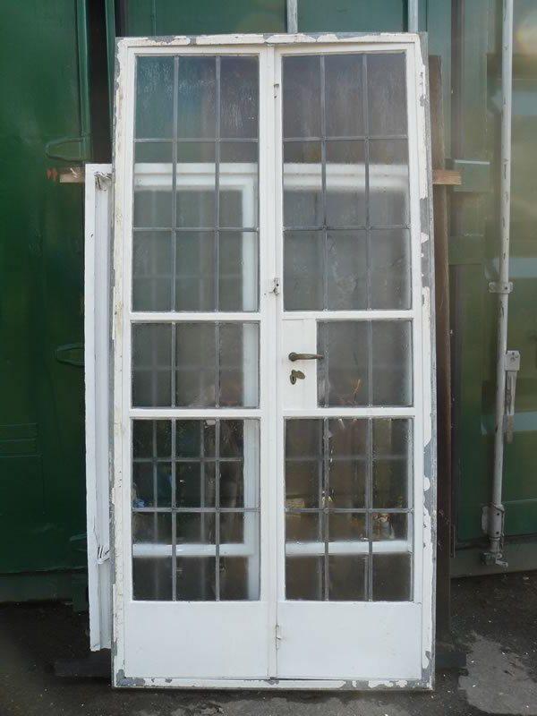 Old Metal French Doors