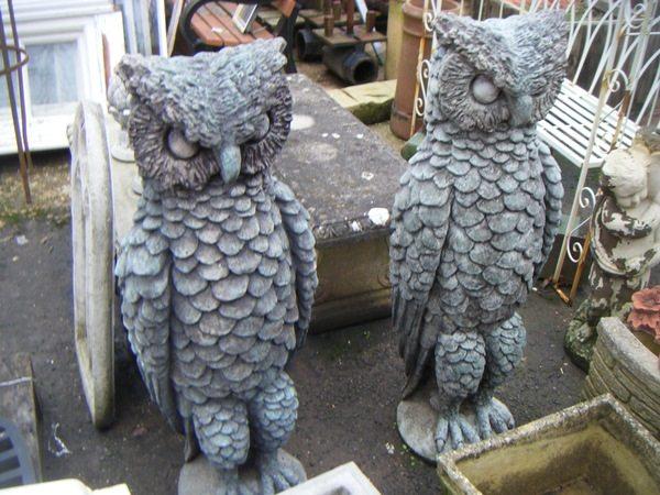 Handmade Owl Statues