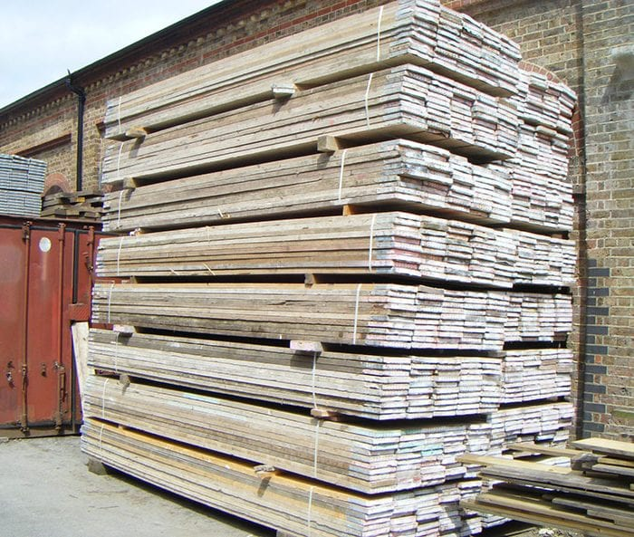Second hand scaffold boards
