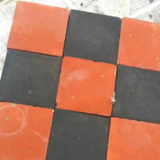 Quarry Floor Tiles Red and Black