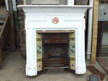 Original Victorian tiled fireplace