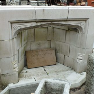 Reclaimed stone fireplace