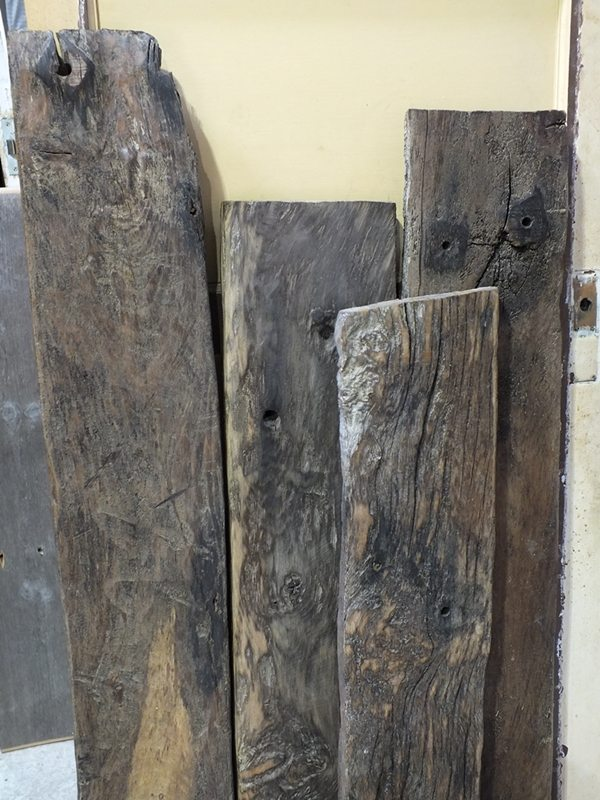 Sea Groyne Oak Planks Dorton Reclamation Yard Sussex