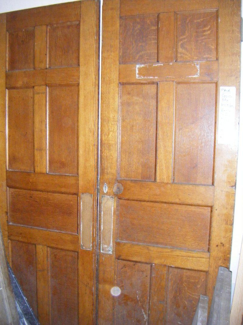 Pair Of Solid Oak Entrance Doors