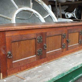 Old reclaimed oak storage bench