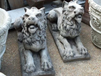 Ornamental hand cast lion statues