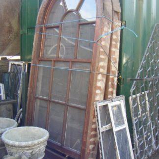 Arched Victorian Oak Sash Windows