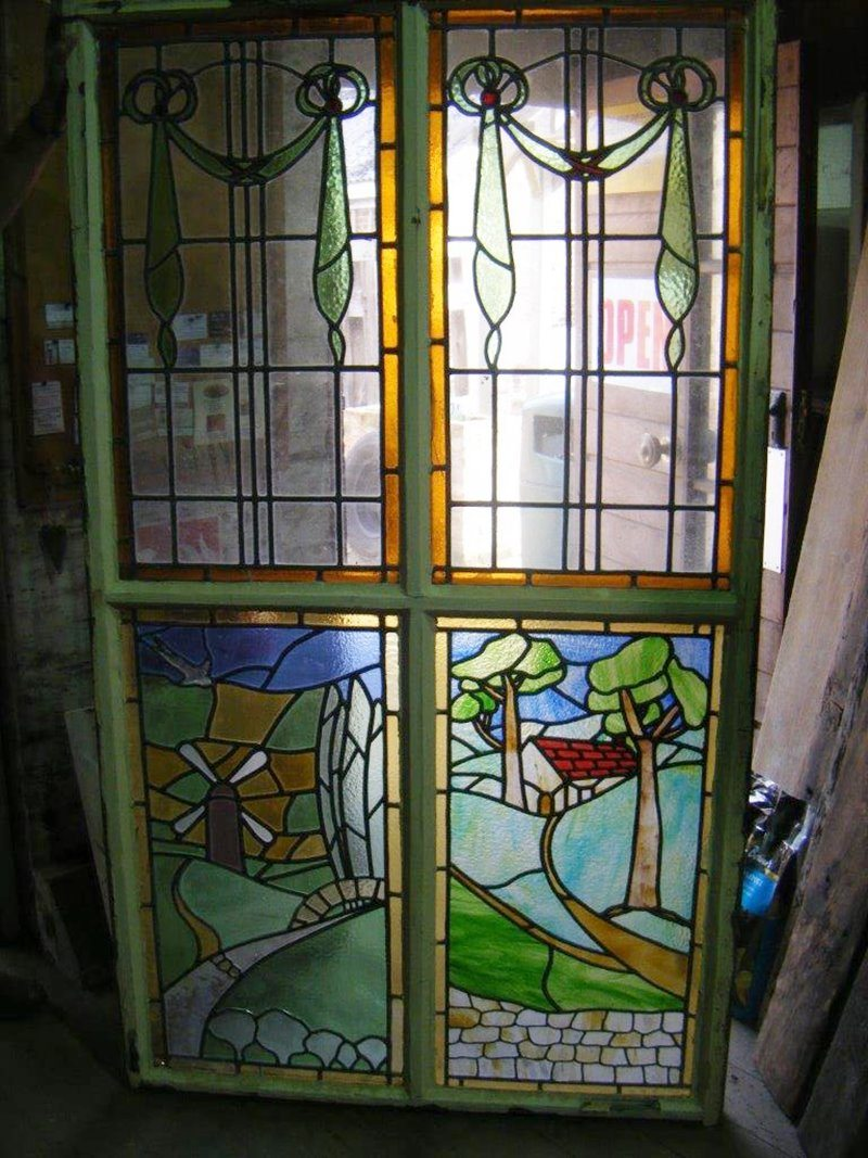 Stained Coloured Glass Frame
