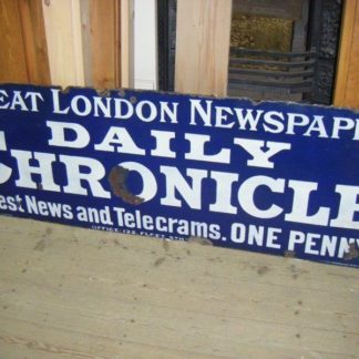 Original enamel sign