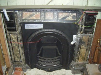 Marble slate fire surround