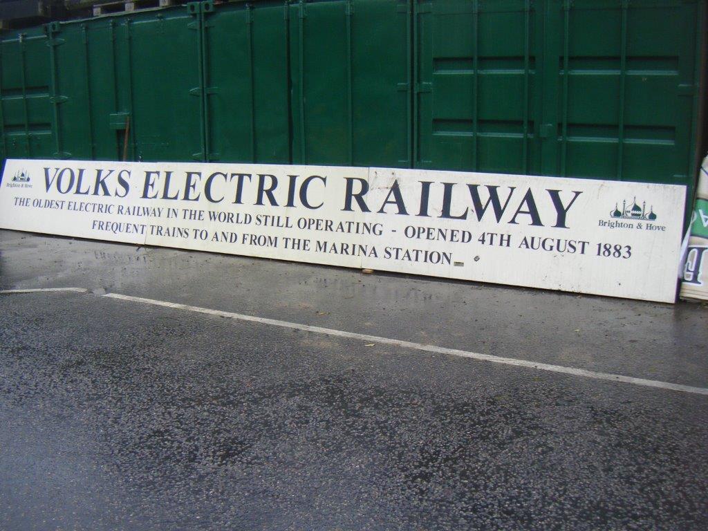 Volks Electric Railway Signage, Brighton