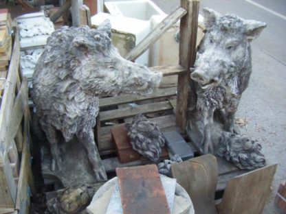 Hand Cast Boars