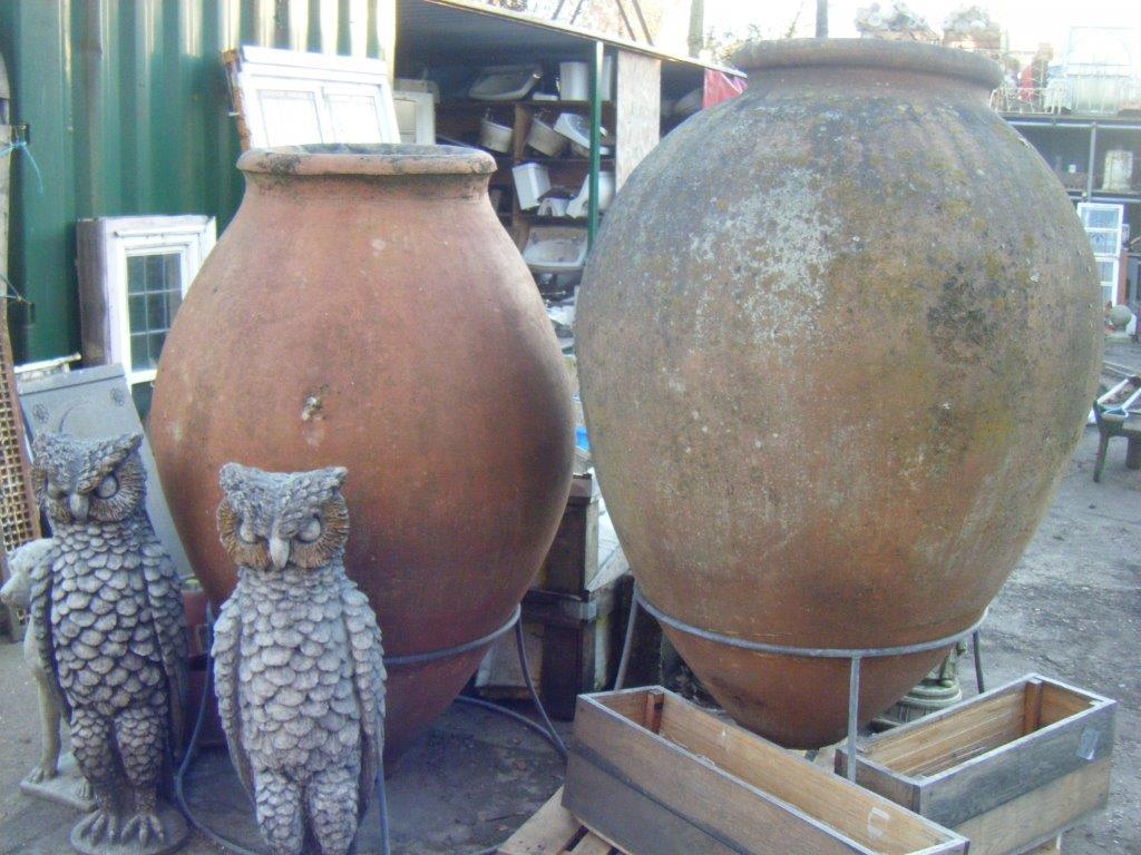 Original Terra Cotta Olive Urns
