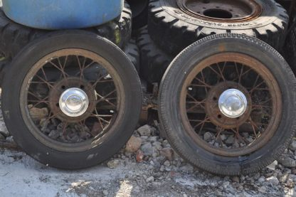 Old Spoked Ford Wheels