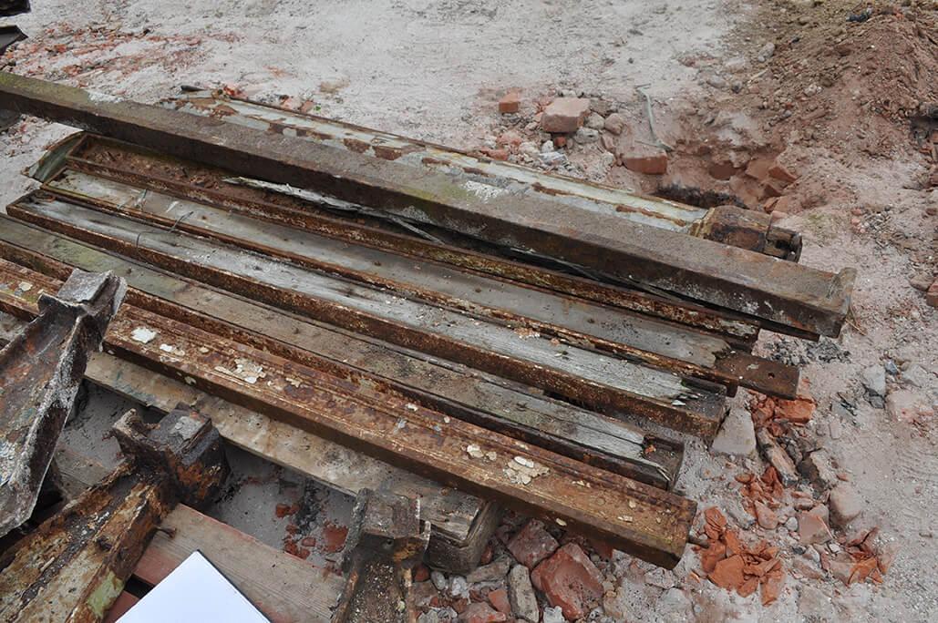 Pallet of Cast Rails