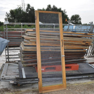 Wood Frame Mesh Doors