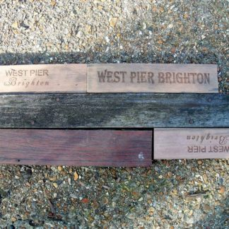 Reclaimed decking from Brighton West Pier
