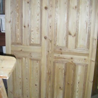 Pair of Pine Stripped Doors