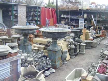 Reproduction Iron Urns and Plinths