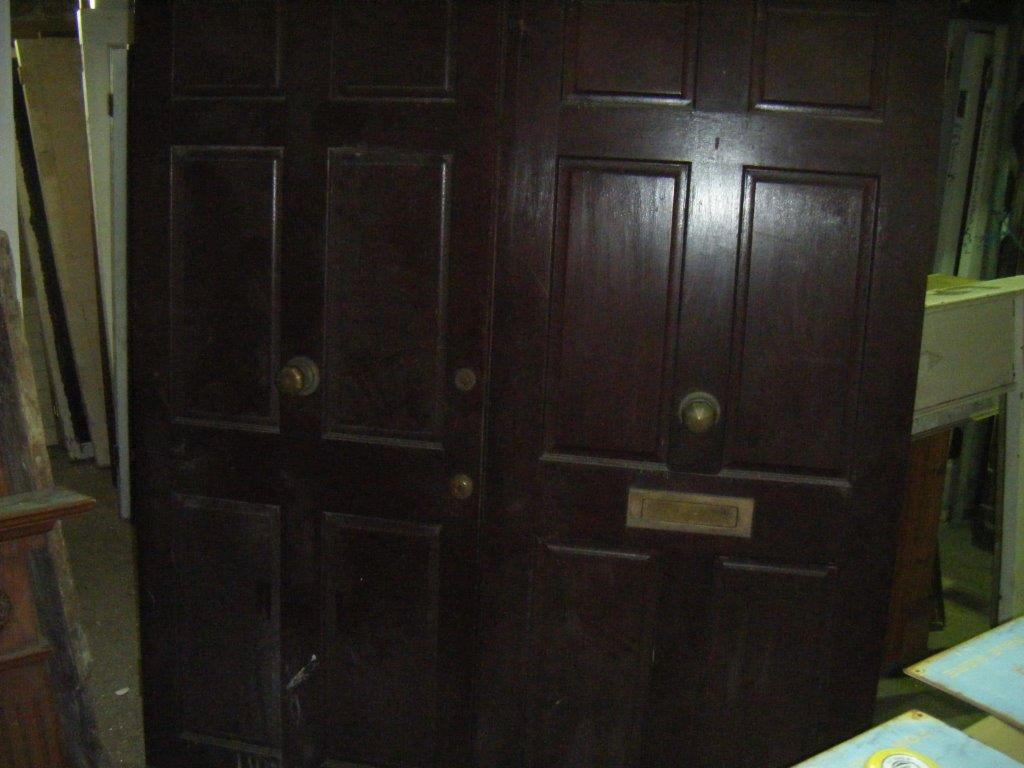 Pair of Dark Hardwood Doors