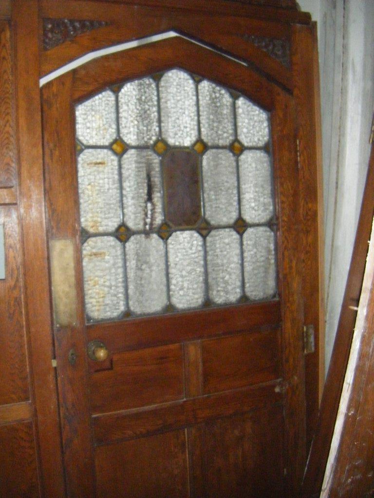 Stunning oak arched door