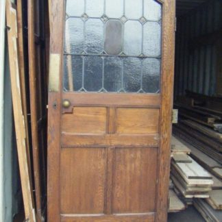Stunning oak arched door